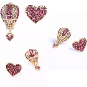 New Betsey Johnson Rhinestone Love Drop Earrings